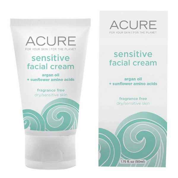 Acure Organics, Sensitive Facial Cream, Argan Oil + Probiotic, Unscented -